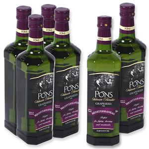 (組)西班牙PONS精選葡萄籽油750ML 6入組