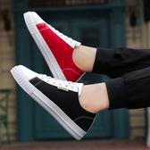 春季韓版帆布鞋潮流男士潮鞋板鞋男鞋子學生運動休閒鞋布鞋低筒鞋