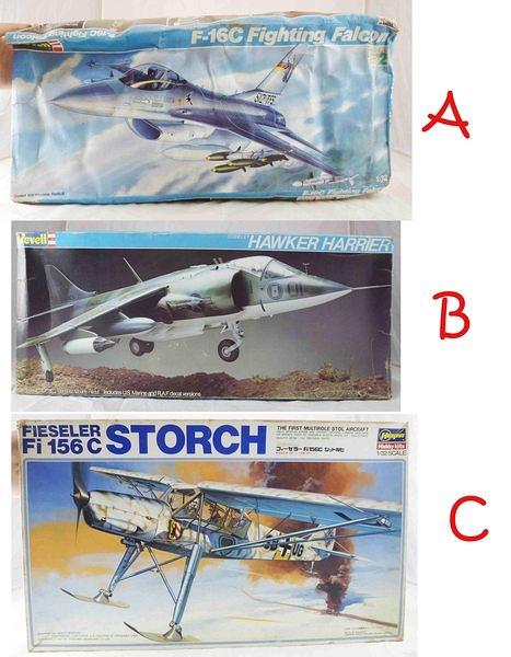 【震撼精品百貨】1/32~F-16C FIGHTING/HAWKER HARRIER/Fi156C STORCH飛機模型【共3款】