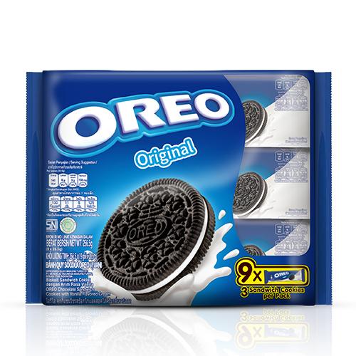 OREO香草巧克力餅乾隨手包256.5G【愛買】