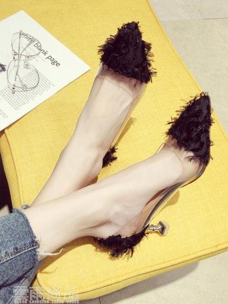 高跟鞋 小清新高跟鞋女 新款夏百搭韓版網紅尖頭學生性感少女細跟單鞋 99狂歡節 一件免運