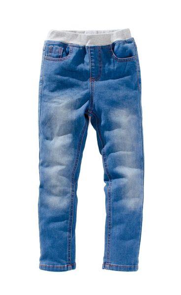 童裝 現貨 帥氣藍色刷白大童牛仔褲【80950】
