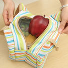 easy保溫便當袋/手提保溫袋/野餐便當包/鋁箔保溫手提袋/布藝冰包/條紋加厚便當保溫袋 Lohogo
