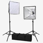 L5050LED 無影罩LED攝影棚燈 (兩只裝) 最高210cm 64顆晶片式LED燈泡【50*50cm】