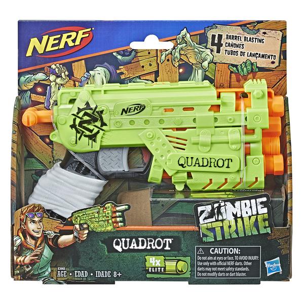 NERF樂活射擊遊戲 Zombie Strike打擊殭屍 Quadrot 四發者 TOYeGO 玩具e哥