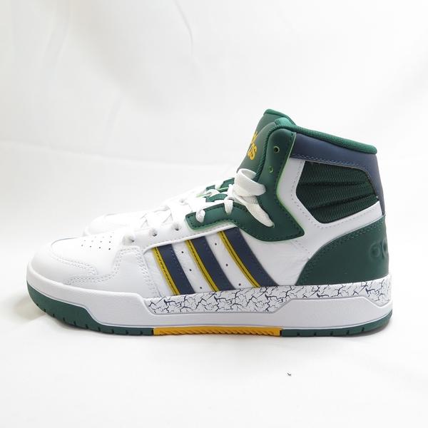 ADIDAS ENTRAP MID 男款 高筒款 籃球鞋 休閒運動鞋 FZ1111 白x綠【iSport愛運動】