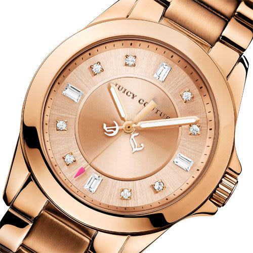 Juicy Couture Stella 甜蜜佳人晶鑽腕錶-玫塊金 J1901036