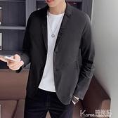 夏季薄款小西裝男修身韓版潮流帥氣輕薄男士休閒西服單西外套男