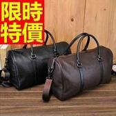 真皮旅行袋-個性可肩背有型多用途男手提包2色59c2【巴黎精品】
