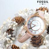FOSSIL 奢華完美 魅力女伶 珍珠螺貝面盤 不銹鋼 鑲鑽 玫瑰金電鍍 女錶 防水手錶 裸粉 ES4455