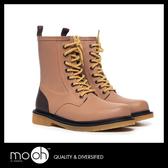 歐美英倫拚色男士8孔馬丁雨鞋 天然橡膠皮靴感男士中筒雨靴 mo.oh (男士鞋款)