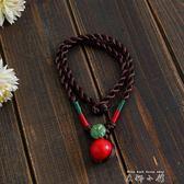 民族風手工編織鑲珠開運手繩 手錬 項錬掛件 小項圈兩用     米娜小鋪