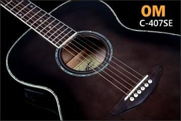 Comet 慧星 C-407SE OM經典之王電木吉他 單板+鮑魚貝殼鑲嵌+Fishman拾音(可插電民謠吉他)