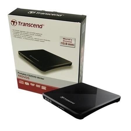 【新風尚潮流】創見 USB 外接式DVD超薄型燒錄機 13.9mm超薄 兩年保固 無需其他電源 TS8XDVDS-K