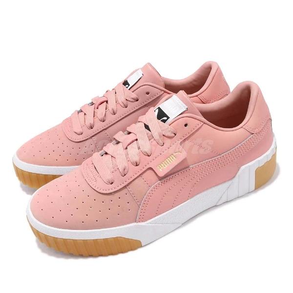 Puma 休閒鞋 Cali Exotic Wns 粉紅 白 女鞋 膠底 厚底 皮革 運動鞋 【ACS】 36965302