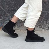 韓版ins大熱秋英倫學院復古磨砂街拍厚底機車chic馬丁靴短靴女夏  琉璃美衣