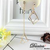 夾式耳環 現貨 韓國浪漫 金屬設計感 立體幾何 方塊 不對稱 無耳洞耳環 S91183 Danica 韓系飾品
