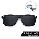 Polaroid偏光夾片 (經典黑灰) 可掀式太陽眼鏡 防眩光 反光 近視最佳首選 抗UV400