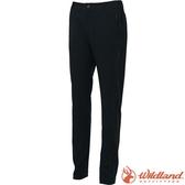 Wildland 荒野 S2377-54黑色 女彈性四季款合身長褲 合身修身版型/防潑機能褲/爬山健行/休閒褲*