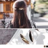 《ZC1278》絨毛感棕豹紋/黑橢圓髮夾 OrangeBear