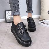 日系女平底娃娃鞋學院風英倫小皮鞋