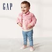 Gap嬰兒棉質舒適翻領短夾克543550-俏皮粉色