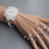 古風飾品一體式手鍊手鐲帶戒子指環 全館免運