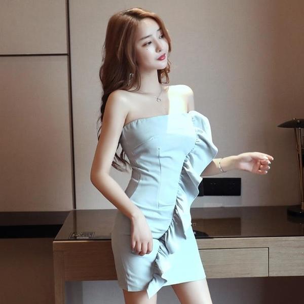 抹胸洋裝 裙子小個子夏季性感抹胸包臀短款法式連身裙氣質女神風-Ballet朵朵