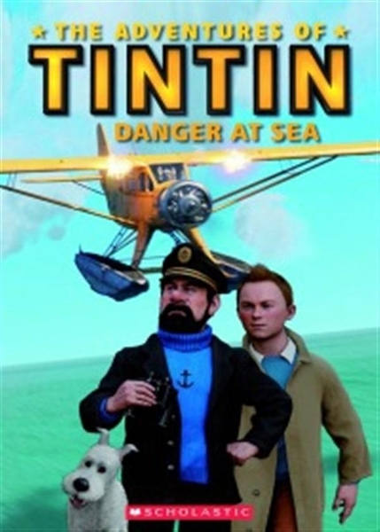 (二手書)Scholastic Popcorn Readers Level 2: Tintin Danger At Sea with CD..