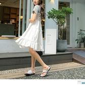 《DA8631》高含棉假兩件拼接抽皺蛋糕裙洋裝 OrangeBear