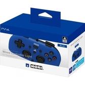 現貨 PS4主機專用 HORI 輕巧型有線控制器 藍色款 PS4-100【玩樂小熊】