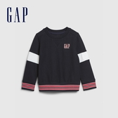 Gap男幼童 Logo時尚撞色休閒上衣 577655-經典海軍藍