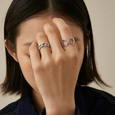 戒指女S925銀小眾設計感鏈條造型【聚物優品】