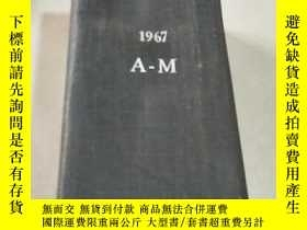 二手書博民逛書店THE罕見ENGINEERING INDEX 1967 A- M