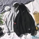 男生連帽T恤 ins同款冬季休閒潮流外套正韓寬鬆長袖連帽加絨連帽T恤男女情侶帽衫 歐米小鋪