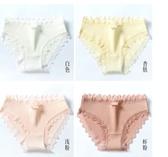 棉質內褲 女士內褲女棉質100%全棉襠抗菌高腰收腹透氣中腰大碼蕾絲少女日系 免運費