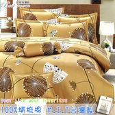 鋪棉床包 100%精梳棉 全舖棉床包兩用被四件組 雙人加大6*6.2尺 Best寢飾 6825-2