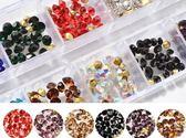 //尖底鑽 12格長條盒//水晶鑽 堆鑽 美甲鑽飾 美甲飾品 Nails Mall