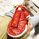 貓咪衣服過年喜慶唐裝冬季保暖寵物新年泰迪狗狗英短藍貓秋冬裝(紅色衛衣)