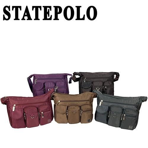 STATEPOLO 多夾層實用側背包 NO:2249