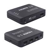 高階 HDMI 2.0 切換器 3對1 手動按鍵切換 4K@60Hz HDR