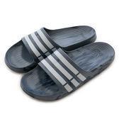 Adidas DURAMO SLIDE  拖鞋 CQ0136 男/女 舒適 運動 休閒 新款 流行 經典