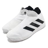 adidas 網球鞋 Stycon M 白 黑 男鞋 襪套式 無鞋帶 運動鞋 【PUMP306】 FY2943