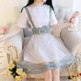背帶裙兩件套裝2020新款夏季少女韓版學院風吊帶連衣裙子初中學生