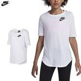 Nike Sportswear 女 大童裝 白 運動短袖 短T 棉T 慢跑 健身 T-Shirt 短袖衣服 939519100