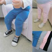 辰辰媽嬰童裝 女寶寶學步爬行護膝長褲春季 防摔 嬰幼兒可開襠褲 薔薇時尚