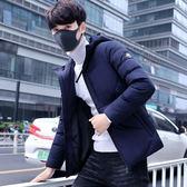 男士短款保暖潮牌棉服 型男時尚個性連帽外套 男款冬天加絨百搭棉衣 男生冬天加厚簡約上衣