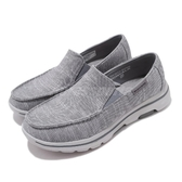 Skechers 休閒鞋 Go Walk 5-Spitfire 灰 黑 男鞋 健走鞋 懶人鞋 舒適緩震 運動鞋【PUMP306】 216026GRY