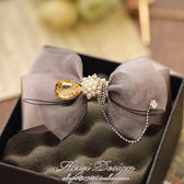 波西米亞風蝴蝶結精品髮飾清新氣質髮飾髮卡邊夾頭飾品A097-享家生活館