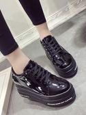 小皮鞋女韓版百搭厚底鬆糕鞋鞋女鞋子 蘇迪蔓
